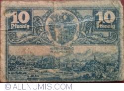 Image #1 of 10 Pfennig ND - Hirschberg