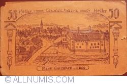 Imaginea #1 a 50 Heller 1920 - Gallspach