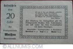 Image #2 of 20 Heller 1920 - Maissau