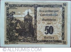 Imaginea #1 a 50 Heller 1921 - Bregenz