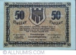 Imaginea #2 a 50 Heller 1921 - Bregenz