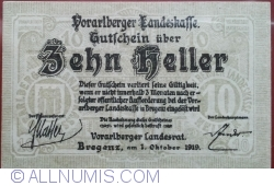 Imaginea #1 a 10 Heller 1919 - Bregenz