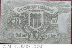 Imaginea #2 a 10 Heller 1919 - Bregenz