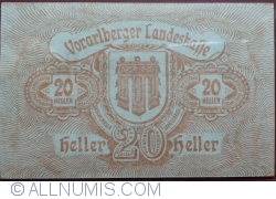 Imaginea #2 a 20 Heller 1919 - Bregenz