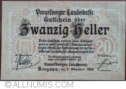 Imaginea #1 a 20 Heller 1919 - Bregenz