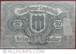 Imaginea #2 a 50 Heller 1919 - Bregenz
