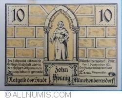 Image #1 of 10 Pfennig 1921 - Münchenbernsdorf