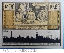 Image #2 of 10 Pfennig 1921 - Münchenbernsdorf