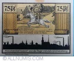 Image #2 of 75 Pfennig 1921 - Münchenbernsdorf