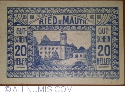 Image #1 of 20 Heller 1920 - Ried bei Mauth.