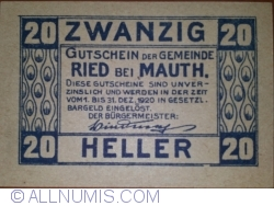 Image #2 of 20 Heller 1920 - Ried bei Mauth.