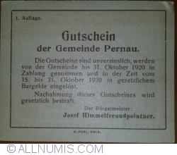 Imaginea #2 a 50 Heller ND - Pernau (Prima emisune - 1. Auflage)