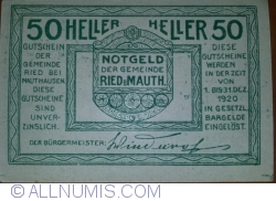 Image #2 of 50 Heller 1920 - Ried bei Mauth.