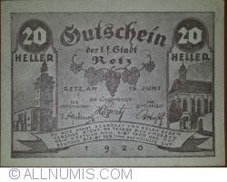 Imaginea #1 a 20 Heller 1920 - Retz