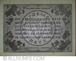 Imaginea #2 a 20 Heller 1920 - Retz