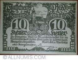 Imaginea #1 a 10 Heller 1920 - Ried im Traunkreis
