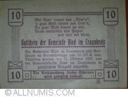 Imaginea #2 a 10 Heller 1920 - Ried im Traunkreis
