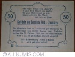 Imaginea #2 a 50 Heller 1920 - Ried im Traunkreis
