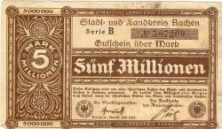 Image #1 of 5 000 000 Mark 1923 - Aachen
