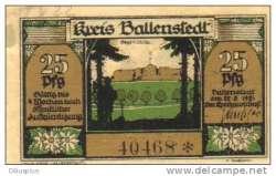Image #2 of 25 Pfennig 1921 - Ballenstedt