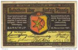 Image #2 of 50 Pfennig 1921 - Barntrup