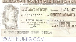 Image #1 of 200 Lire 1977 (11. VIII.) - Bergamo (POSTAL MARKET ITALIANA S. p. A.)