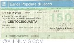 Image #1 of 150 Lire 1977 (28. III.) - Lecco