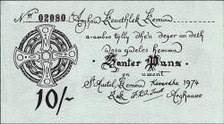 Image #1 of 10 Shillings (1/2 Pound) 1974